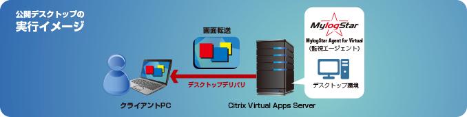 公開デスクトップの実行イメージ